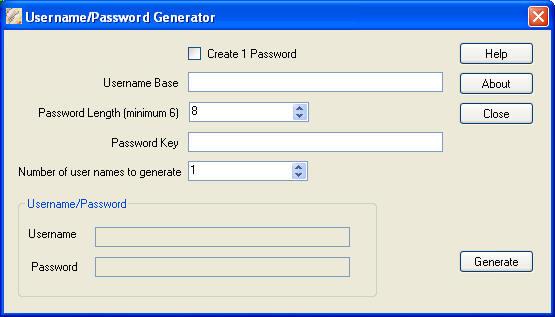 Username Password Generator FREE